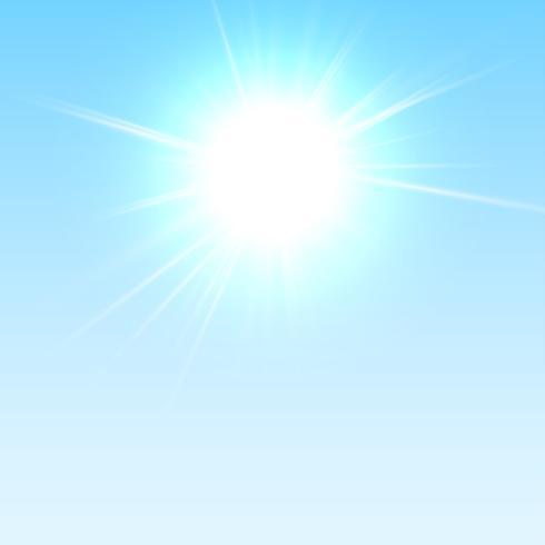 Realistische weergave van de hemel, vector