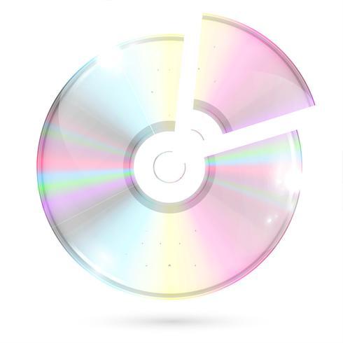 CD / DVD op witte achtergrond, vectorillustratie vector