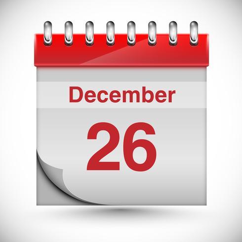 Kalender voor Chritmas, vector