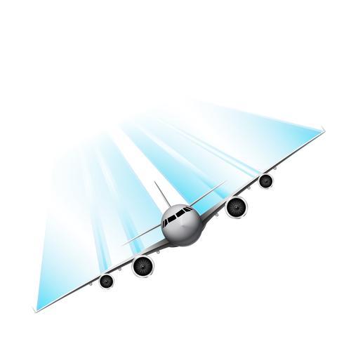 Snel vliegtuig, vector