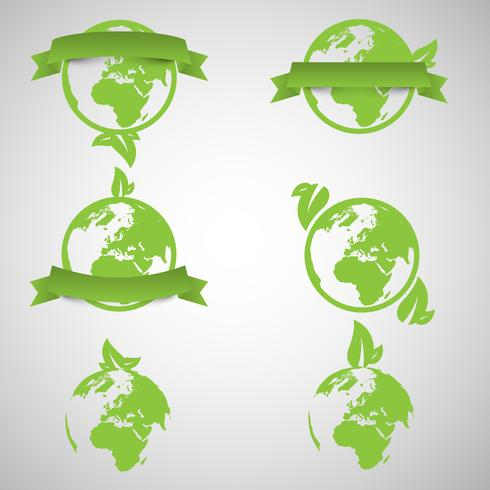 Groene wereld ecologie concepten, vector