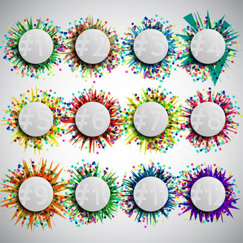 Kleurrijk vieringsmalplaatje, vector