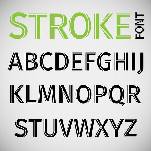 Stroke lettertype, vector