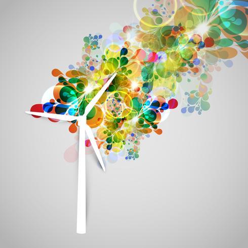 Kleurrijke windgenerator vector-illsutration vector