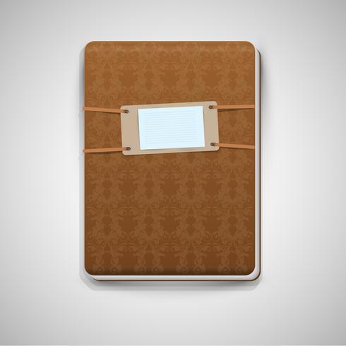 Realistisch bruin notitieboekje, vector