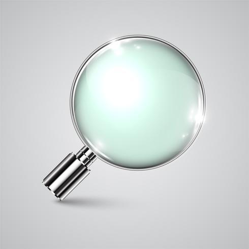 Vector realistische vergrootglas