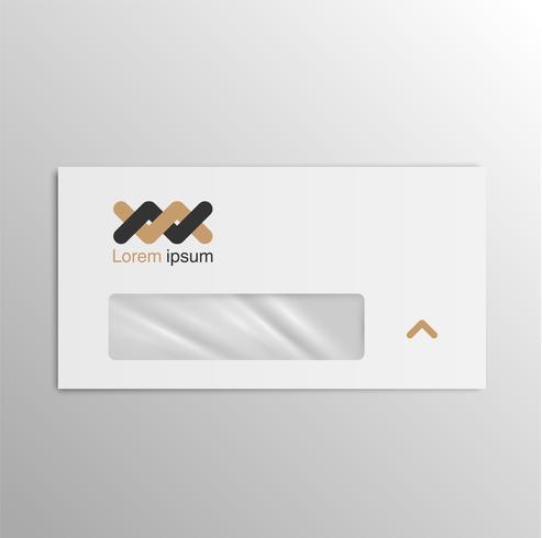 Bedrijfs realistische envelop, vector