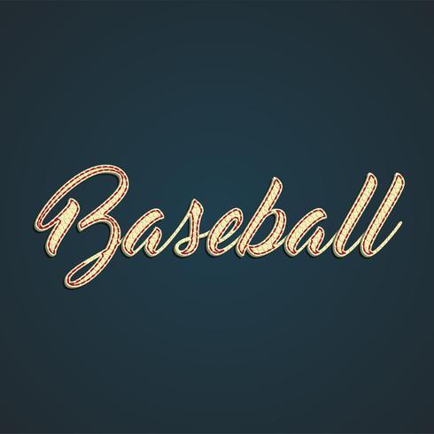 'Honkbal' label gemaakt door leer, vectorillustratie vector