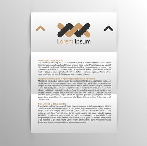 Realistische A4-sjabloon voor bedrijfsidentiteit vector