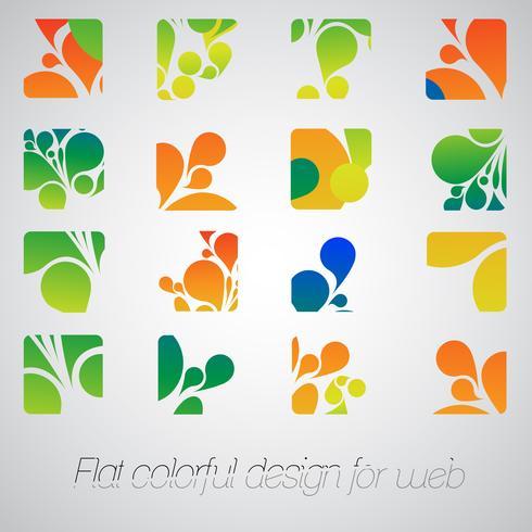 Abstracte emblemen voor uw zaken, vector