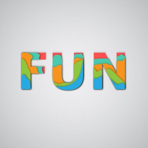 Kleurrijk woord, vectorillustratie vector