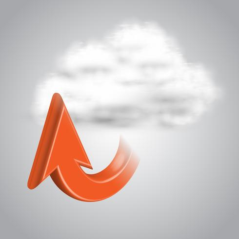 Upload naar cloud, vector
