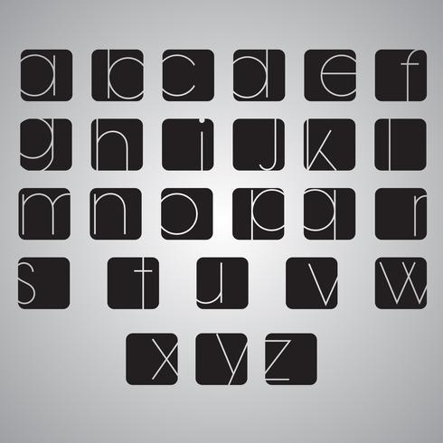 Vector elegante alfabetreeks