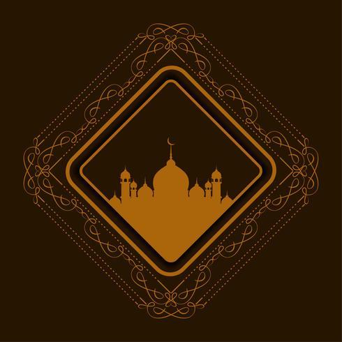 Abstracte Eid Mubarak-achtergrond vector