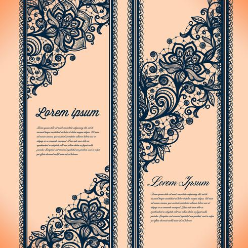 Abstracte kant lint verticale banners. vector