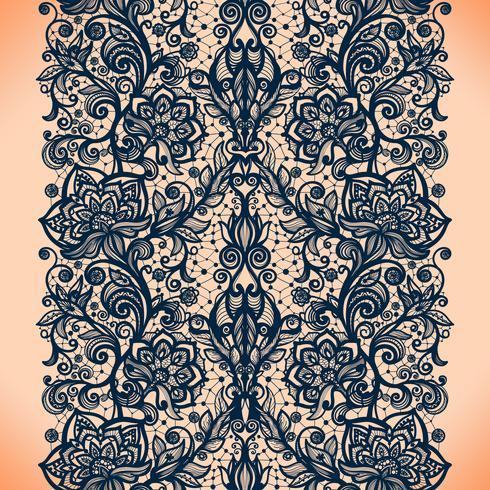 Abstract naadloos kantpatroon met bloemen vector