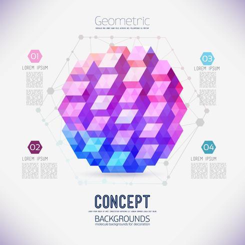 Abstract concept van geometrische compositie, verzameld uit de driehoekige vormen. vector