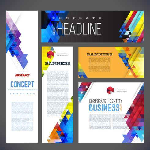 Abstract ontwerp banners vector sjabloonontwerp