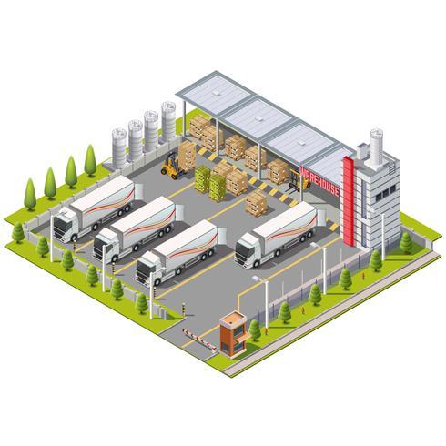 Magazijn Industriegebied vector
