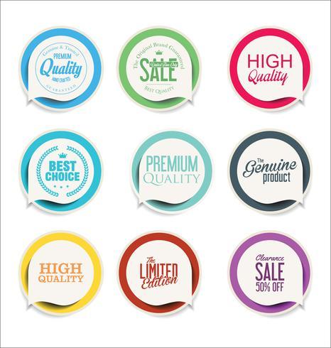 Moderne verkoop sticker collectie vector