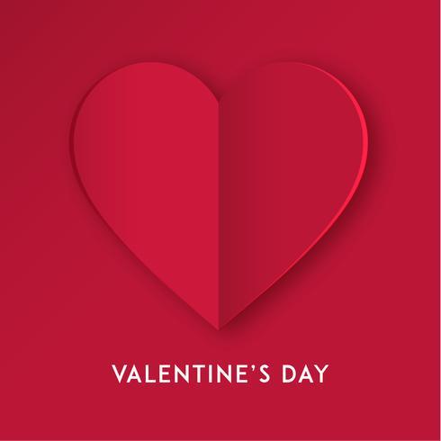 Papier gesneden liefde hart voor Valentijnsdag of een andere liefde uitnodigingskaarten. Vector