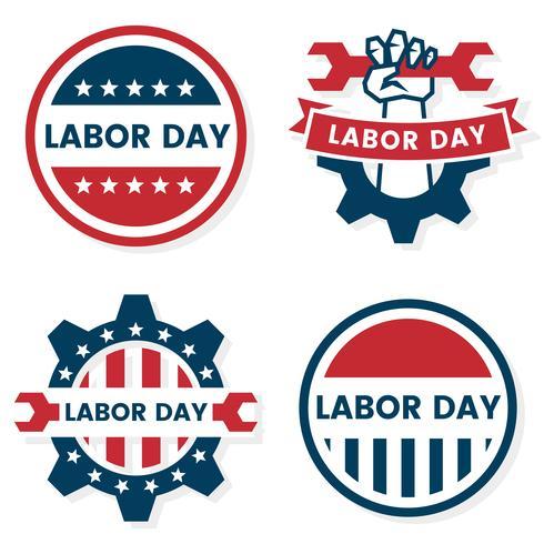 Dag van de arbeid Vector label voor banner