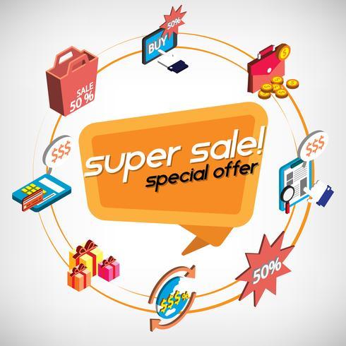 illustratie van info grafische online winkelen instellen concept vector
