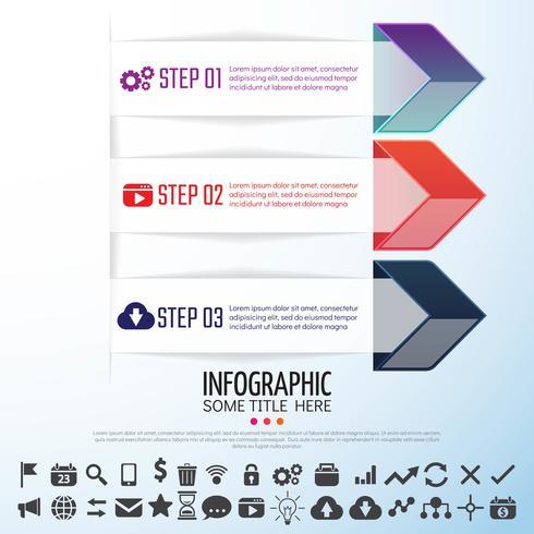 Pijl Infographics ontwerpsjabloon vector