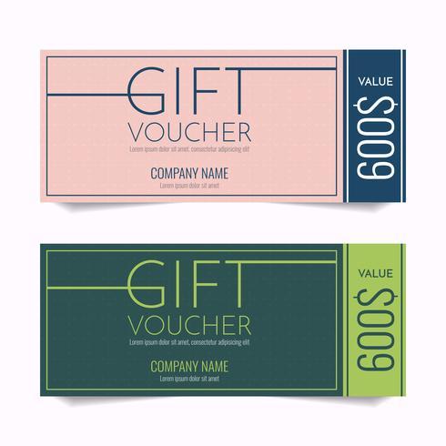 Gift Voucher Vector achtergrond voor banner