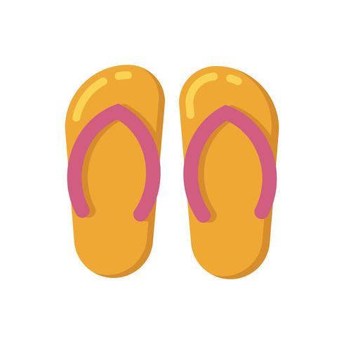Zomer sandalen platte pictogram vector