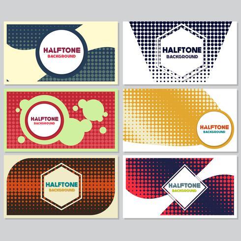Vintage halftone stijl achtergrond ontwerpsjabloon vector