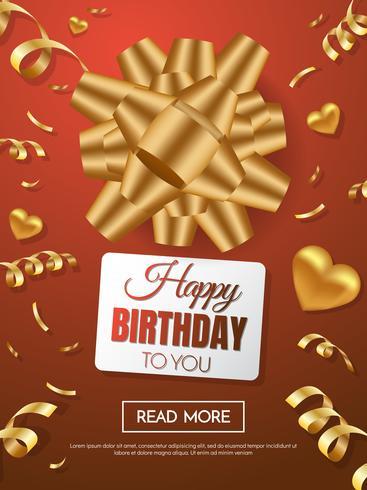 gelukkige verjaardag vector achtergrond