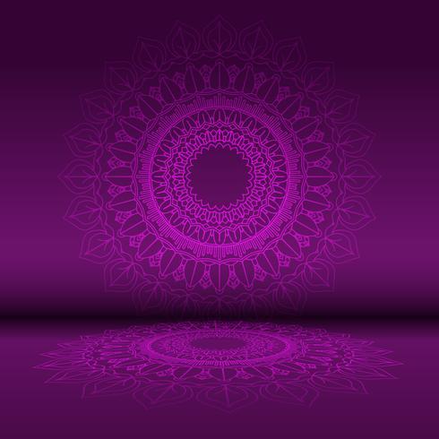 Abstracte mandala ontwerp achtergrond vector