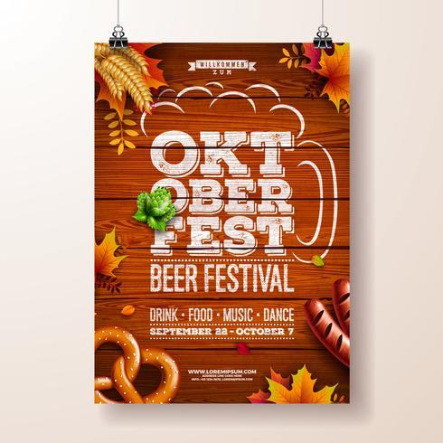 Oktoberfest poster vectorillustratie vector