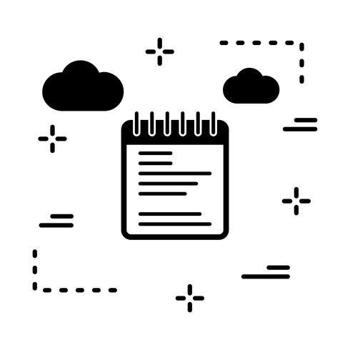 vector Kladblok pictogram