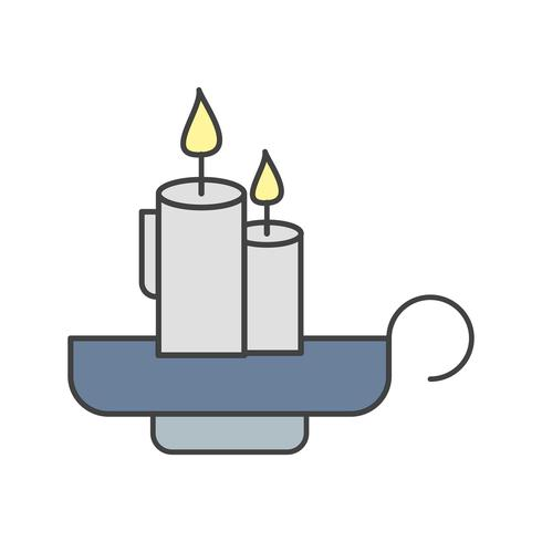 vector kaarsen pictogram