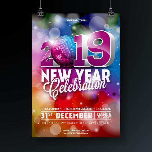 Nieuwjaar feest viering Poster vector