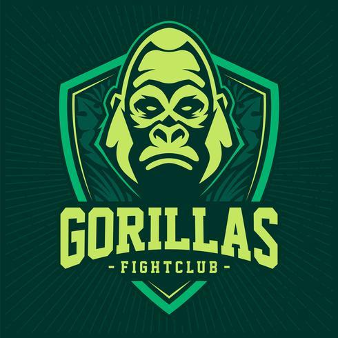 Gorilla Mascot embleem ontwerp vector