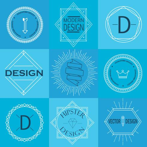 Set van retro vintage insignes en logo's. vector