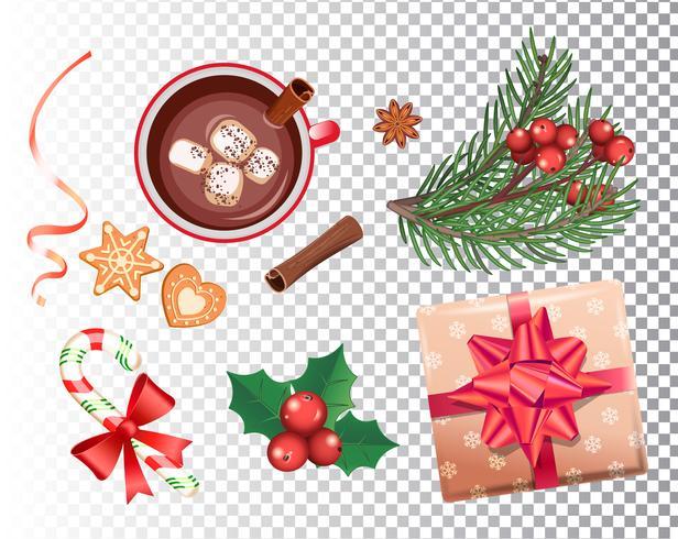 Kerstmis ingesteld voor vakanties. vector