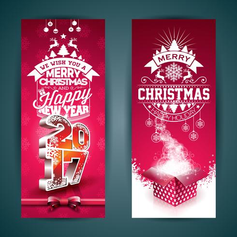 Vrolijk kerstfeest illustratie van de banner vector
