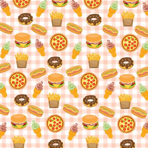 Fast-food achtergrond. vector