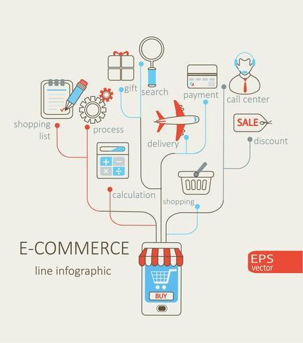 Infographic van e-commerce. vector
