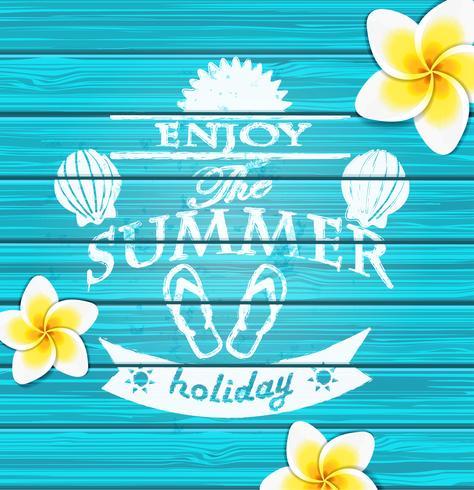 Geniet van de zomer. vector