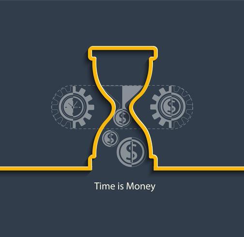 Tijd is geld concept. vector