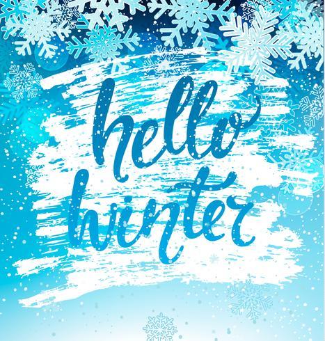 Hallo winter geeting kaart. Vector. vector