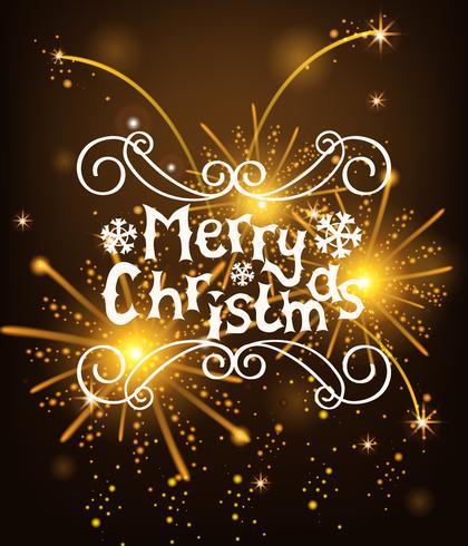 Vector kerstboodschappen schijnen salut achtergrond.