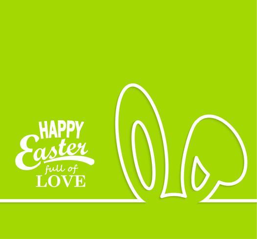 Happy Easter-kaart. vector
