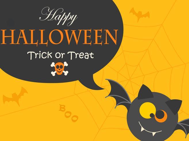 Banner voor Halloween-feestnacht. vector