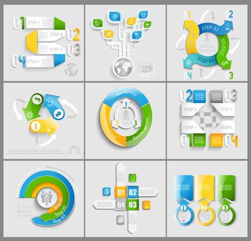 Set van zakelijke marketing. vector